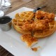 Brunch Chicken Waffles w knife