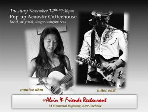 Acoustic Coffeehouse featuring Monica Uhm and Miles East