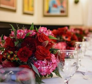 Royal Blossons bouquet on table