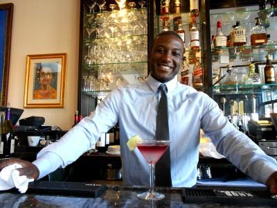 malcolm behind the bar w maracas bay