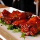 wings on wooden table
